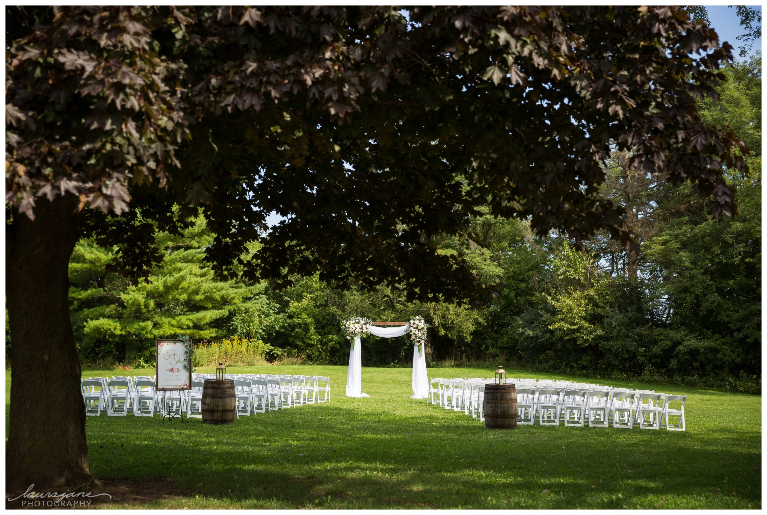 Glacier Hills County Park Wedding Ceremony