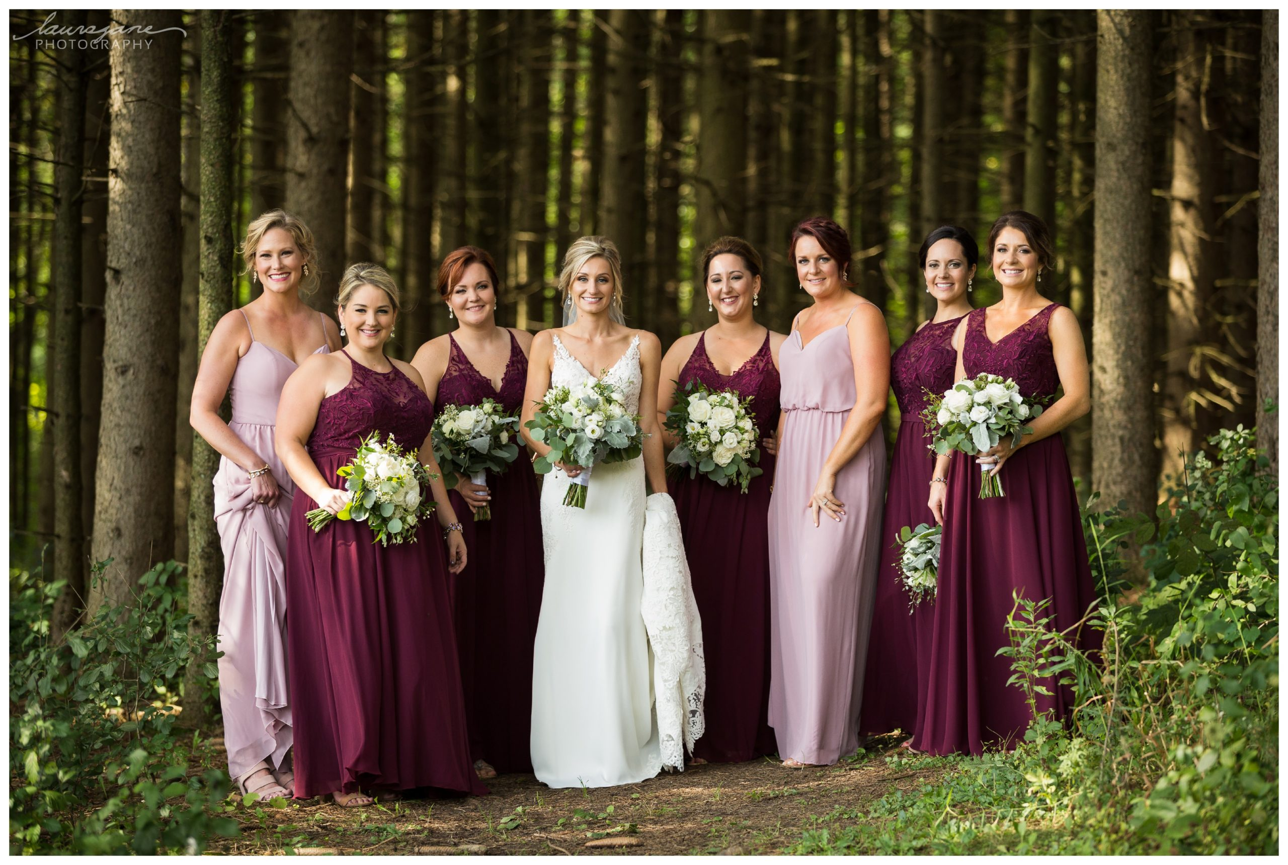 Bride & Bridesmaid Portraits at Glacier Hills