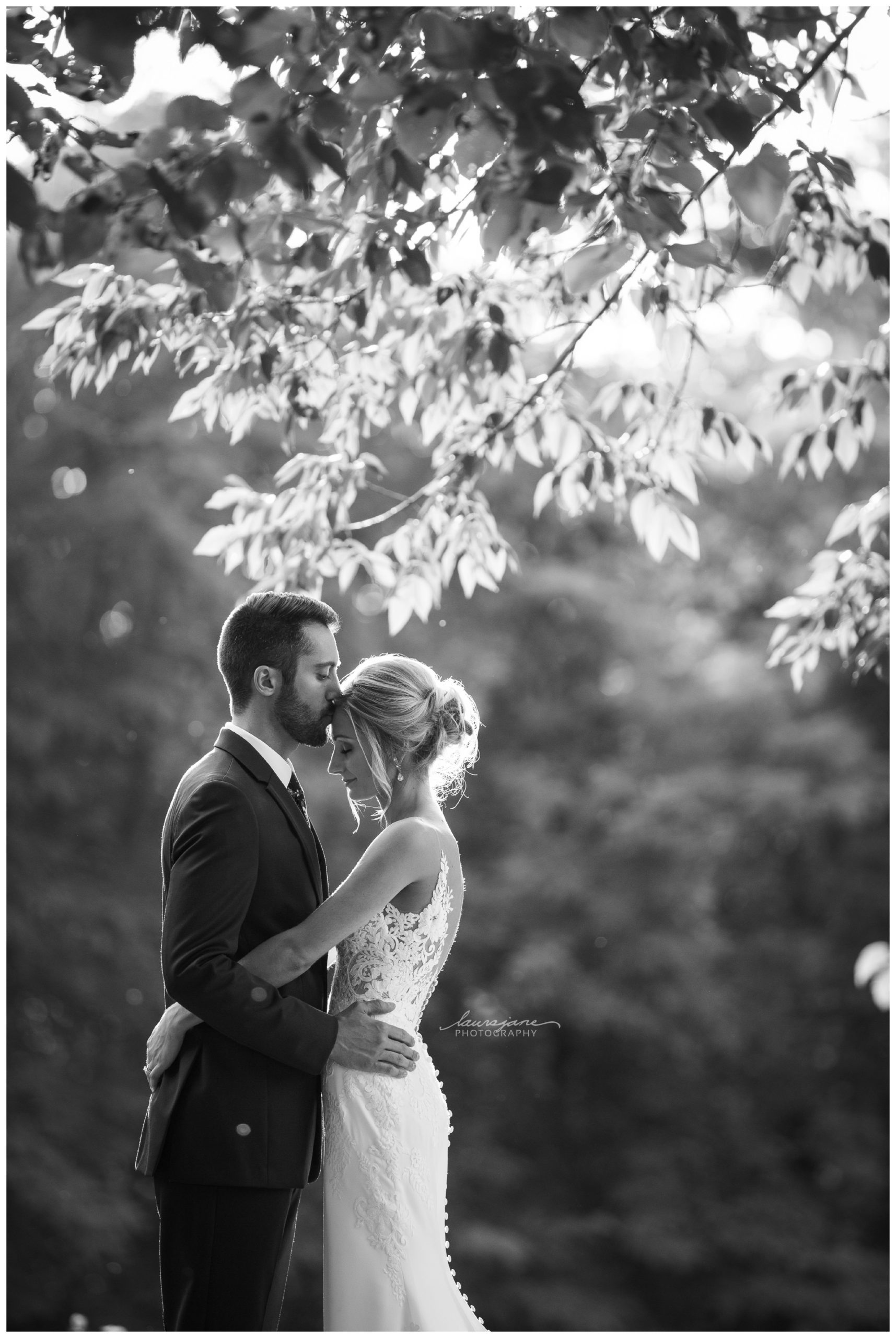 Bride and Groom Portrait at County Park