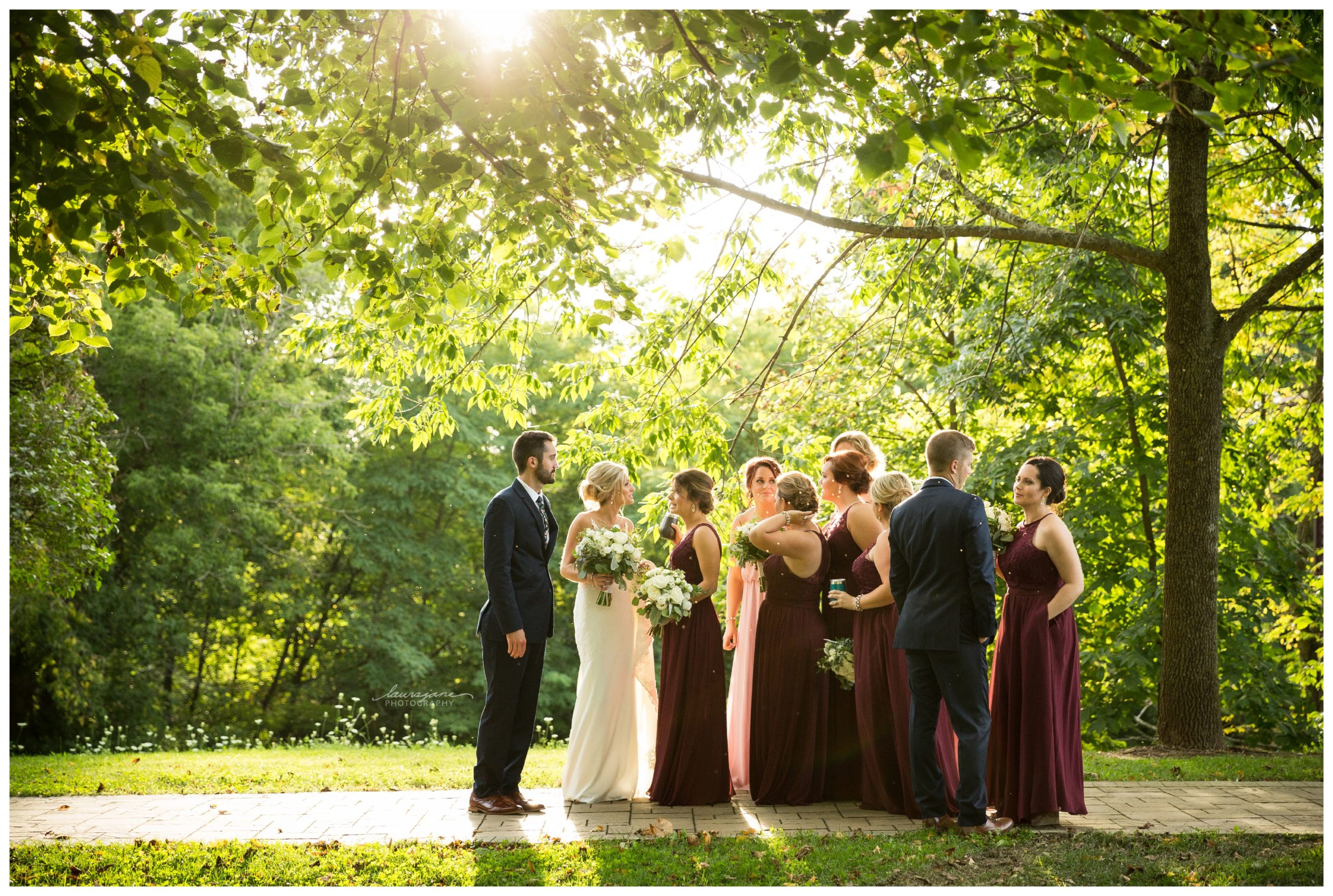 Bridal Party Candids at Richfield Wedding