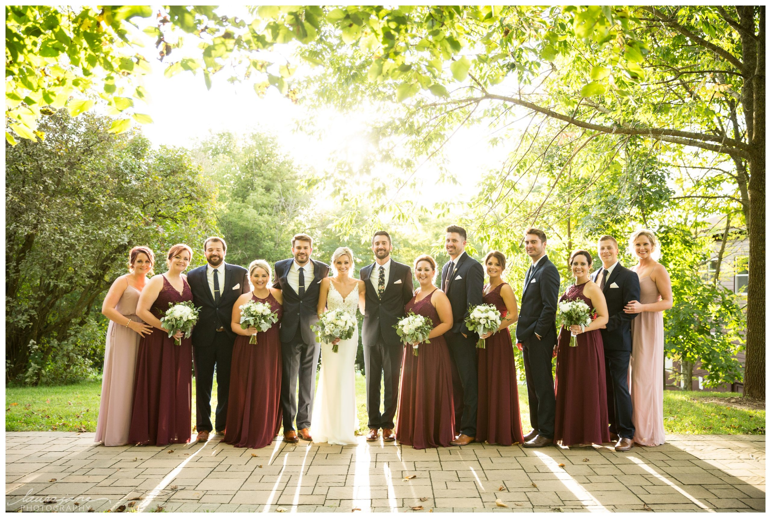 Bridal Party Portraits at Hubertus Wedding