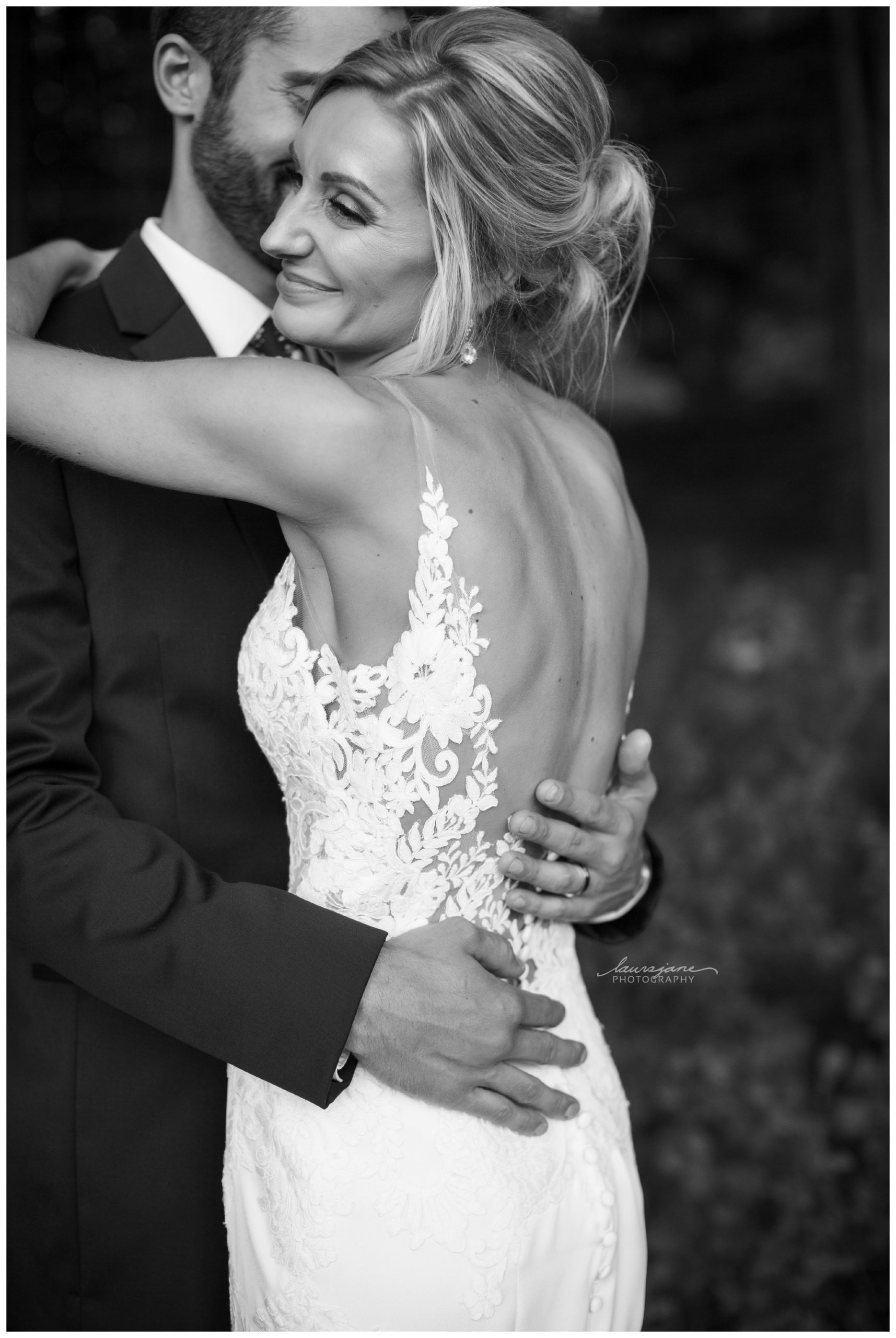 Hugging Wedding Photos Waukesha