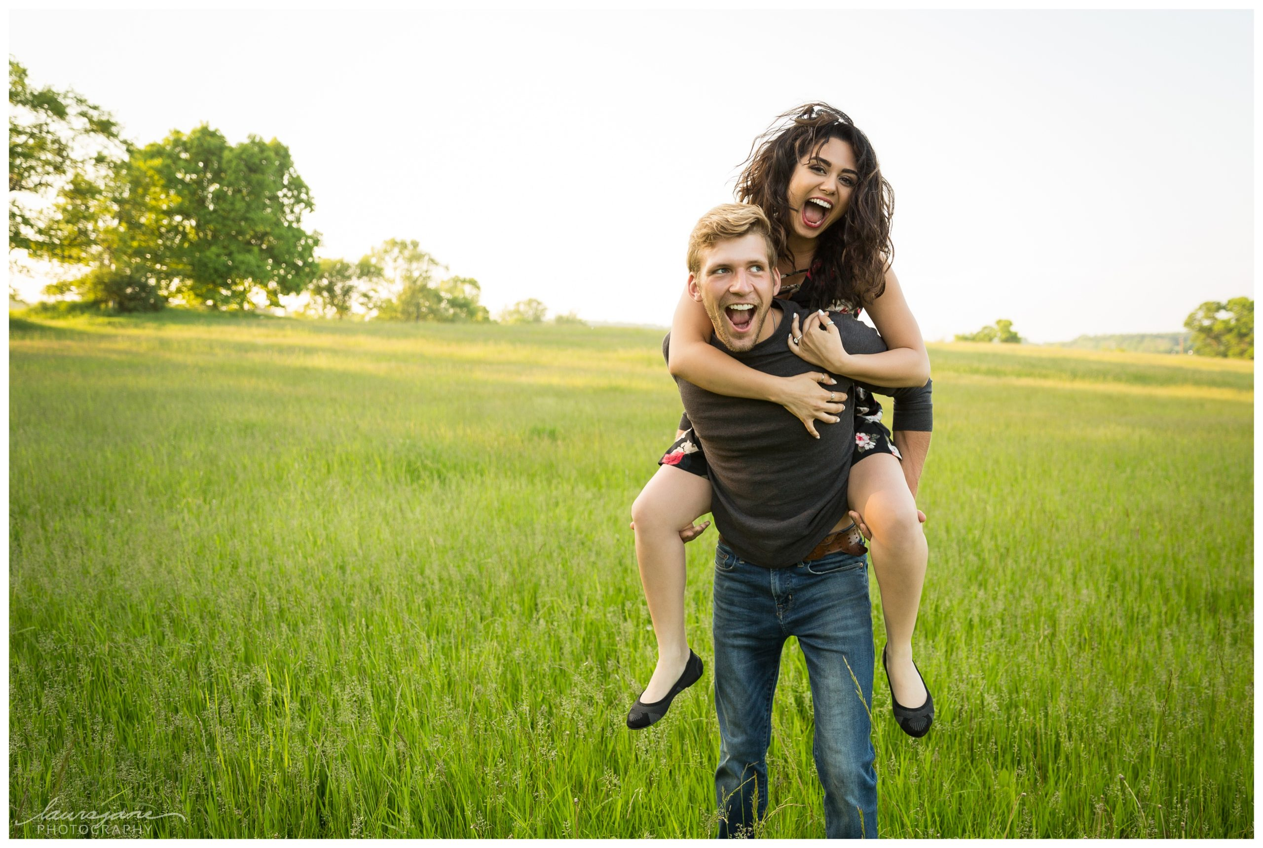 Nontraditional engagement photos