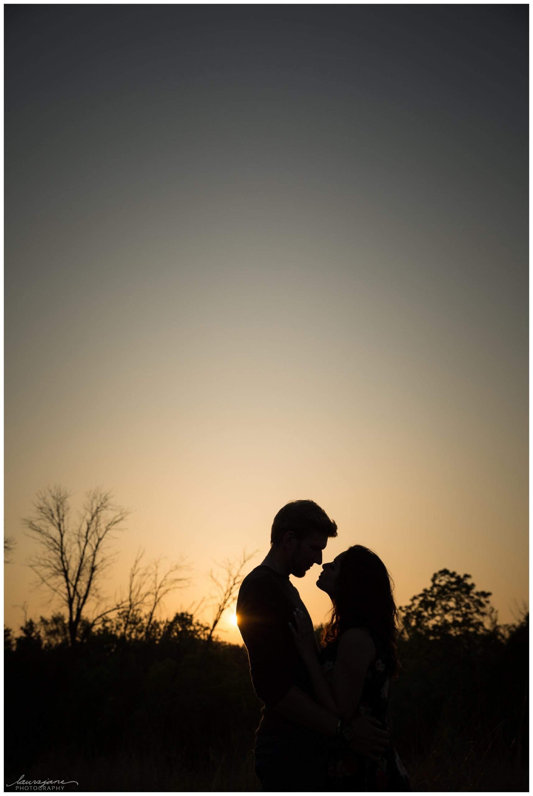 Silhouette engagement picture