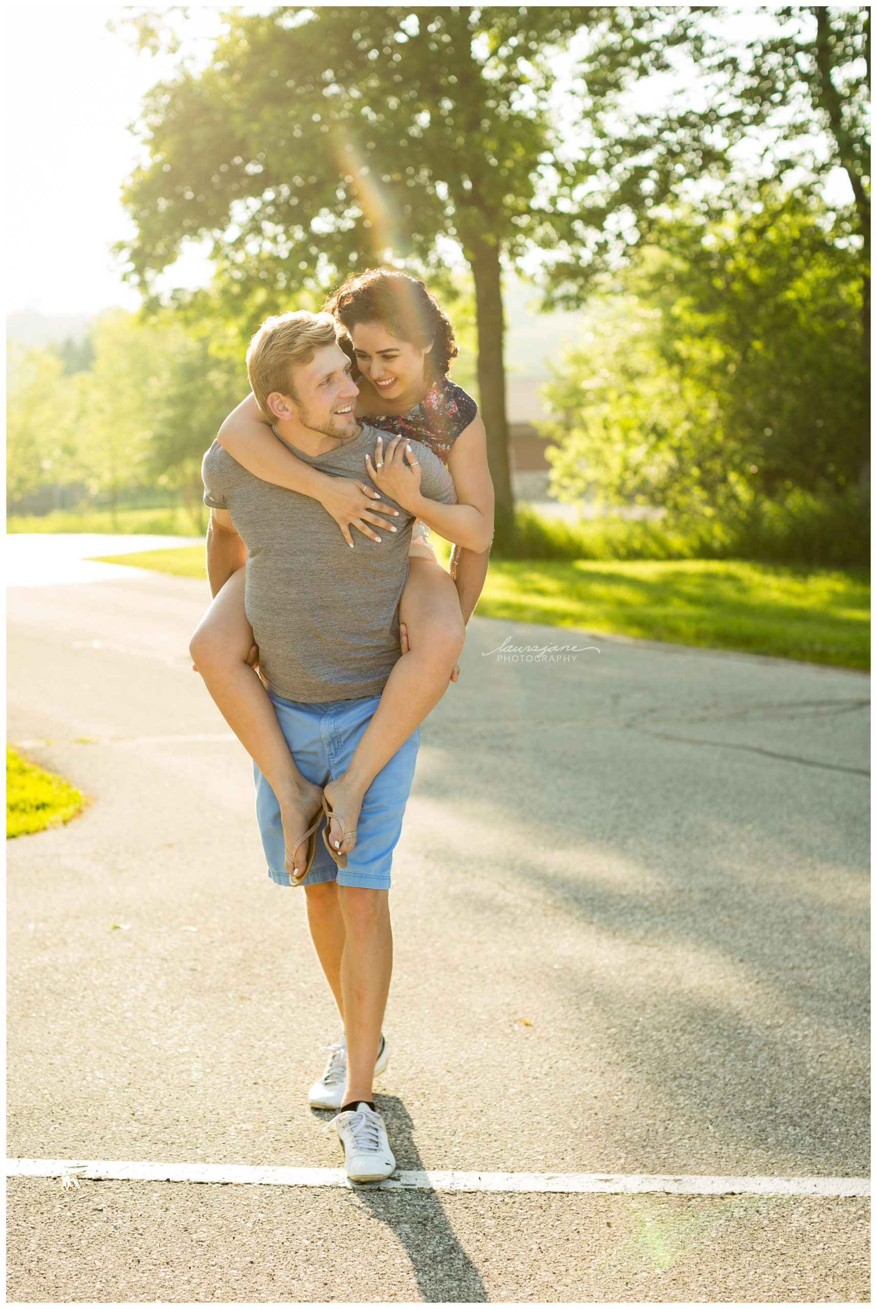 Fun engagement pictures in Waukesha