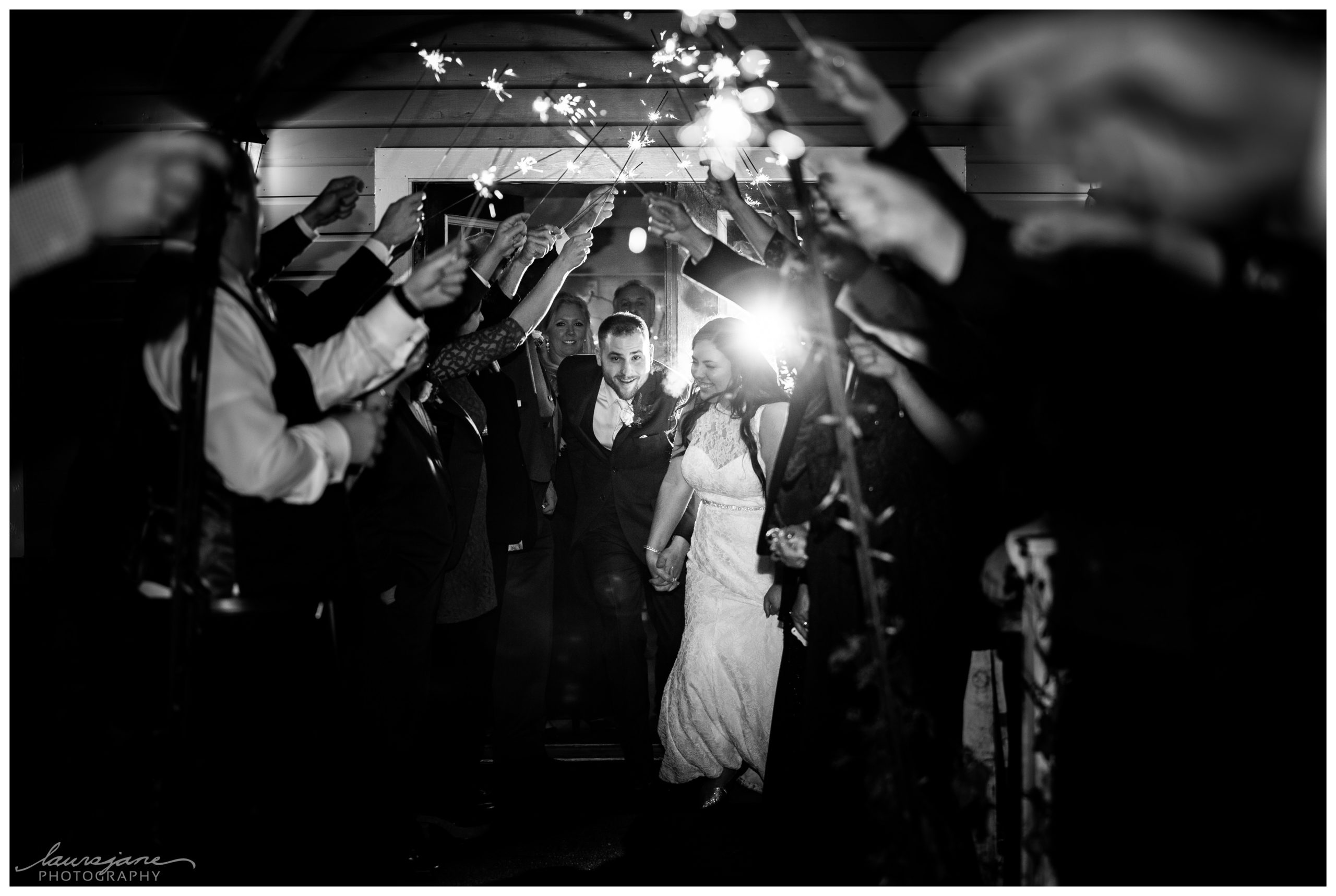 Sparkler Fun Wedding Photos