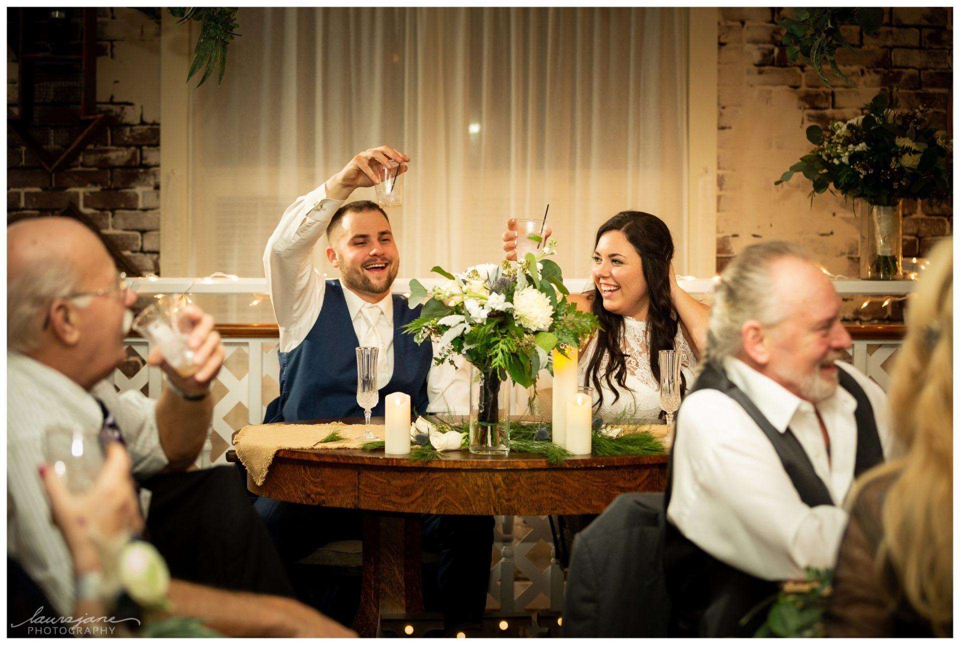 Candid Reception Photos at Wisconsin Wedding